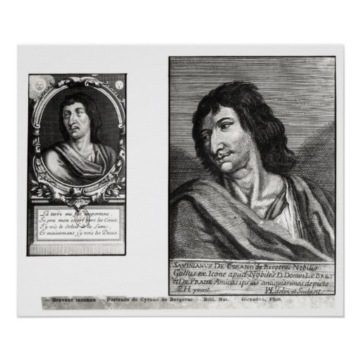 Two portraits of Savinien Cyrano de Bergerac Posters