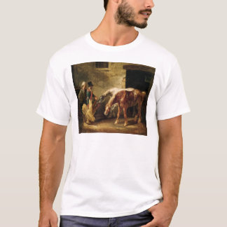 Two Post Horses at the Door of a Stable T-Shirt