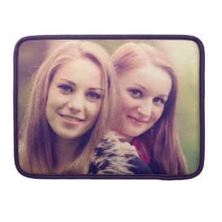 Two pretty girls portrait MacBook pro sleeves