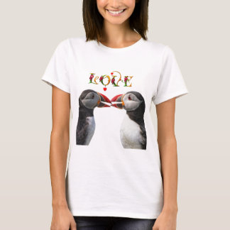 Two puffin kiss T-Shirt