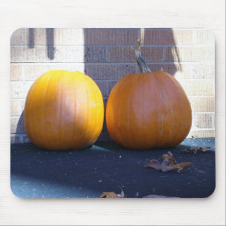 Two Pumkins on a door step Mouse Pad