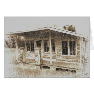 Two-Pump General Store Greeting Card