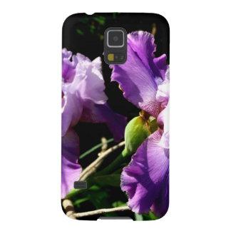 Two Purple Iris Flowers Samsung Galaxy Nexus Cases