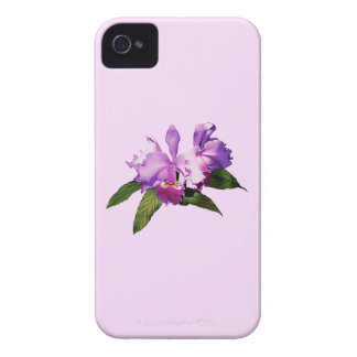 Two Purple Orchids iPhone 4 Case