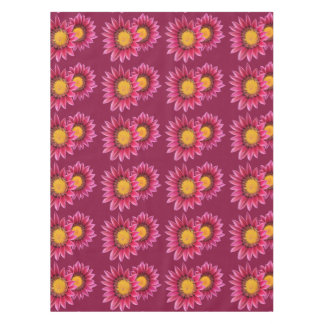 two purple pink flowers table cloth