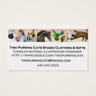Two Purring Cats Studio Business Cards