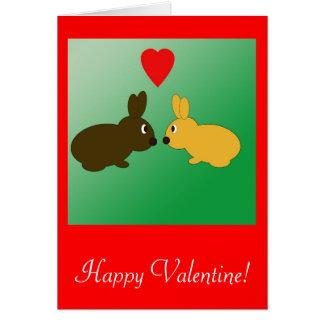 Two Rabbits Valentine Card