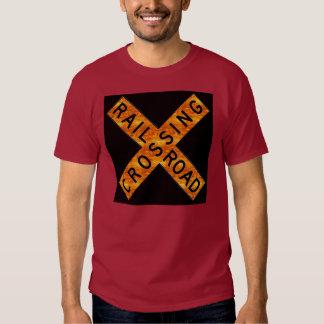 Two Railroad Signs Tee Shirt