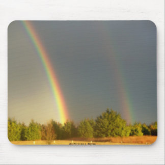 Two Rainbows Mouse Pad