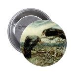 Two Ravens 6 Cm Round Badge
