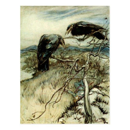 Two Ravens Postcard