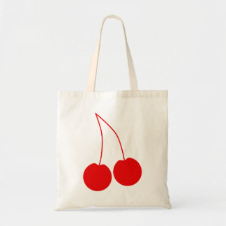 Two Red Cherries. Tote Bag