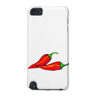 Two Red Chili Peppers on Side iPod Touch (5th Generation) Cases