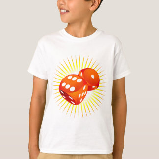 Two red dices. shirt