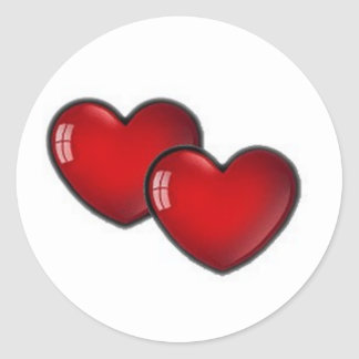 Two red hearts sticker