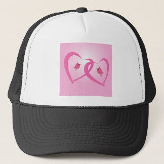 Two red hearts trucker hat
