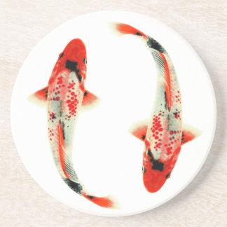 Two Red Koi Coaster