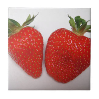 Two red strawberries tile