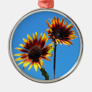 Two Red Sunflowers Premium Ornament