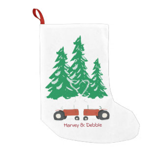 Two Red Tractors Christmas Stocking