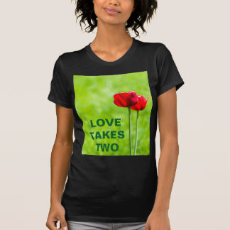 Two red tulip flowers customizable T-Shirt