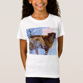 Two red wolves painting T-Shirt