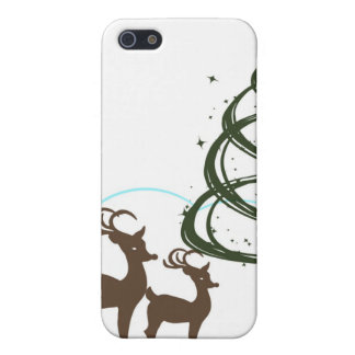 Two Reindeer Grazing Christmas iPhone 5/5S Case