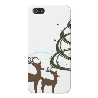Two Reindeer Grazing Christmas iPhone 5 Covers