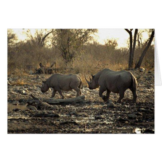 Two rhinos card
