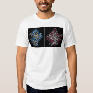 two ribosomal subunits with trna and mrna pieces t-shirts