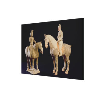 Two Riders, Chinese, Tang dynasty (618-906) (terra Canvas Print