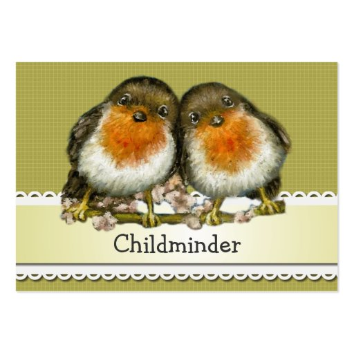 two robins business cards