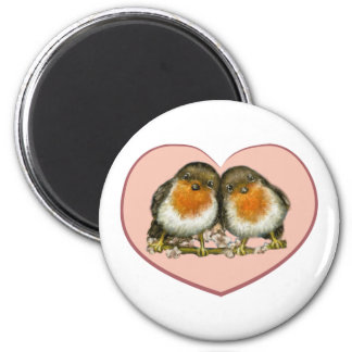 Two robins magnet