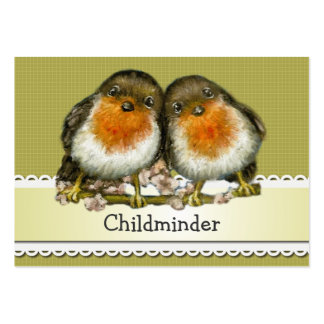 two robins pack of chubby business cards