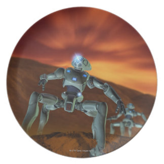 Two Robots Plate
