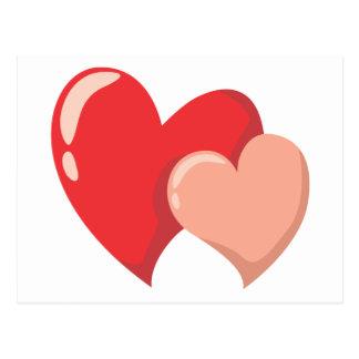 Two Romantic Love Hearts Postcard
