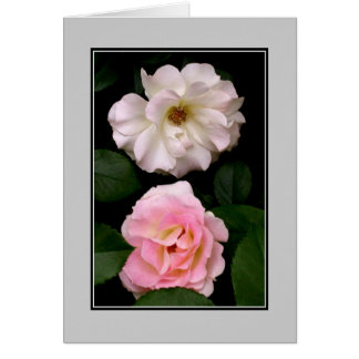 'Two Roses' Blank Note Card