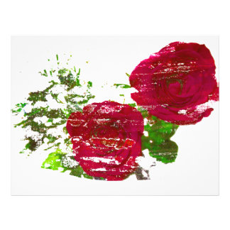two roses grunged graphic full color flyer