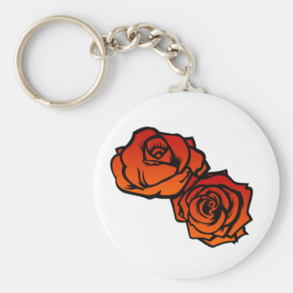Two Roses Keychain