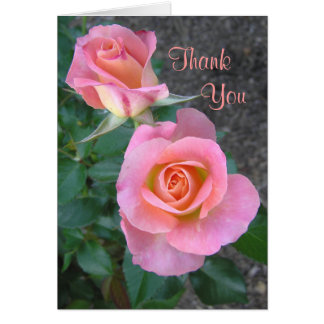 """Two Roses"" Thank You Card"