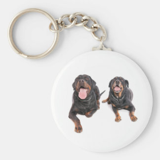 two rottweilers, key ring