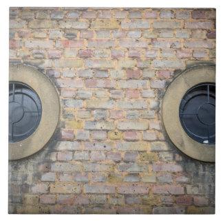 Two round windows ceramic photo tile