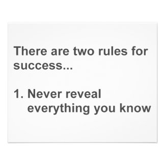 Two Rules For Success Revealed 11.5 Cm X 14 Cm Flyer