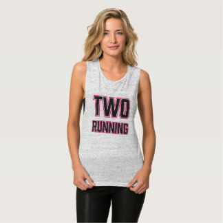 TWO RUNNING Active Maternity Wear Flowy Muscle Tank Top