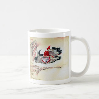 Two Running Scotties Coffee Mug