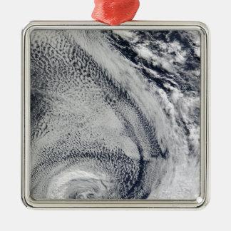 Two S-Shaped Polar Hurricanes Christmas Ornament