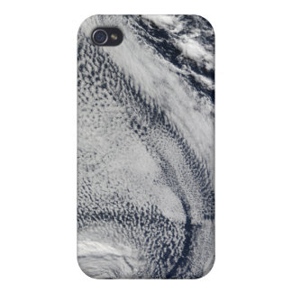 Two S-Shaped Polar Hurricanes iPhone 4 Case