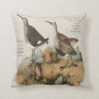 Two Sandpipers with Poem - Cotton version Cushion