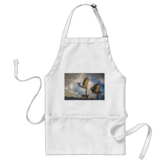 Two Satellite Dishes in the Sky Standard Apron