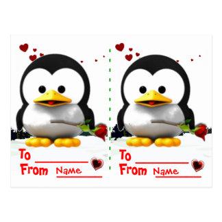 Two school  valentines postcard